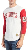 Mitchell & Ness Men's 'St. Louis Cardinals - Extra Out' Tailored Fit Three Quarter Baseball T-Shirt