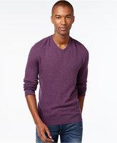 Vince Camuto Plait-Knit V-Neck Sweater