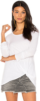 Bobi Light Weight Jersey Twist Tee White in White. - size XS (also in )