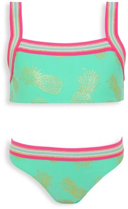 Sunuva Little Girl's & Girl's 2-Piece Pineapple Glitter Bikini