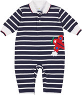 Florence Eiseman Stripe Knit Piquet Airplane Coverall, Size 3-12 Months