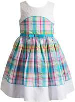 Youngland Girls 4-6x Plaid & Eyelet Seersucker Dress