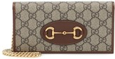 Thumbnail for your product : Gucci Horsebit 1955 canvas clutch