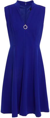DKNY Zip-detailed Stretch-crepe Mini Dress