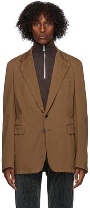 Dries Van Noten Brown Cotton Blazer