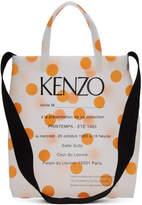 Kenzo Orange Polka Dot Invitation Tote