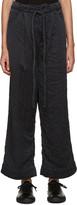 Craig Green Black Silk Wide-Leg Trousers