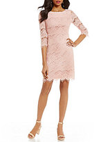 Jessica Howard 3/4-Sleeve Lace Sheath Dress