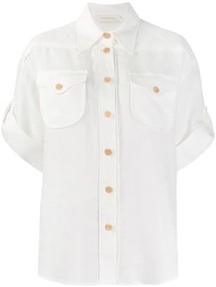 Zimmermann Short Sleeve Turn Up Cuffs Shirt