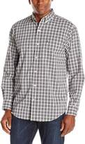 Izod Men's Long Sleeve Button Down Stripe Woven Shirt