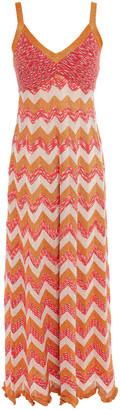 M Missoni Ruffle-trimmed Metallic Crochet-knit Maxi Dress