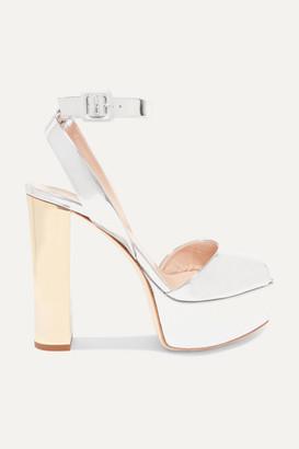 Giuseppe Zanotti Betty Mirrored-leather Platform Sandals - Silver