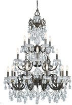 Crystorama 5190-Eb-Cl-Mwp Legacy 20 Light Clear Crystal Bronze Chandelier