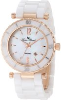 Lucien Piccard Women's LP-10222-WWRA La Tournette White Dial White Ceramic Watch