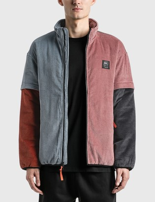Brain Dead Color Blocked Mirco Corduroy Jacket with Removable Sleeves
