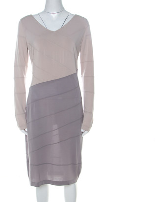 Escada Colorblock Stretch Jersey Paneled Eppa Dress M
