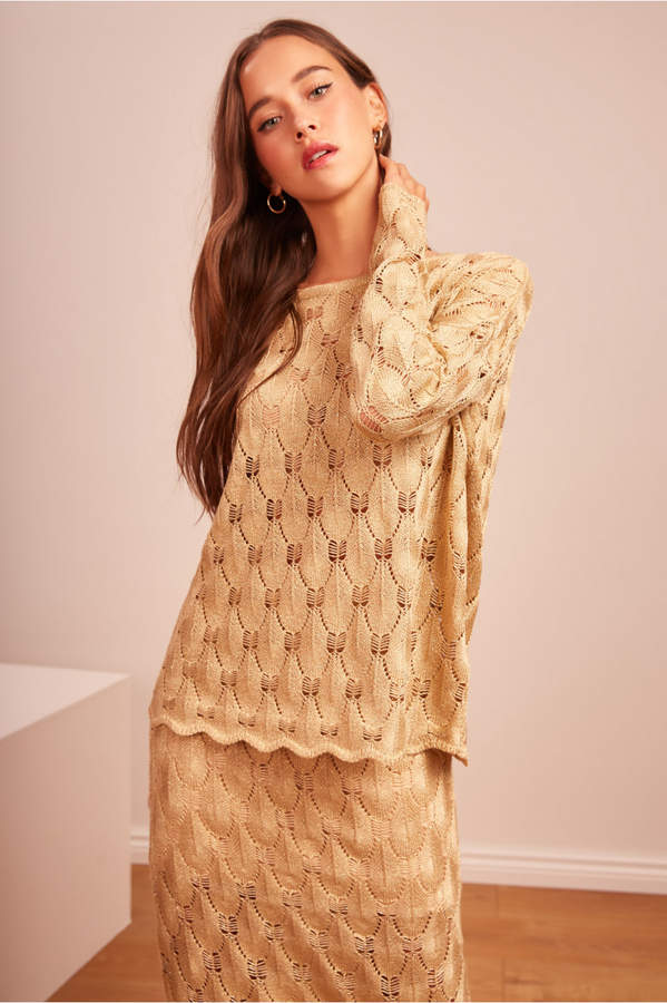 Finders Keepers SHIMMER KNIT gold
