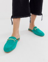 Green Suede Mules - ShopStyle