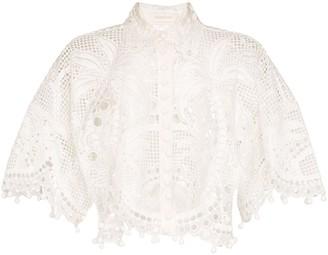 Zimmermann Brightside Palm silk blouse
