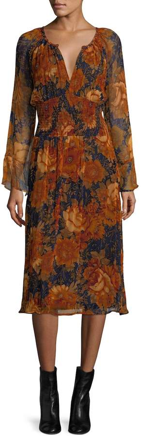 Antik Batik Women's Mony Floral Blouson Dress