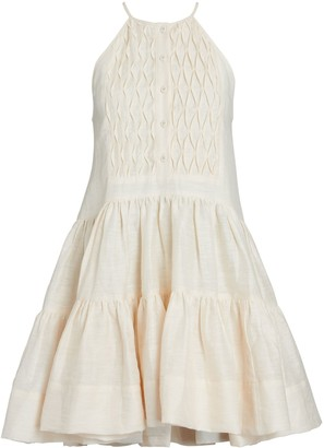 Shona Joy Margaux Sleeveless Tuxedo Mini Dress