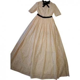 DANIELE CARLOTTA Beige Lace Dress for Women