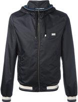 Dolce & Gabbana contrast stripe rain jacket