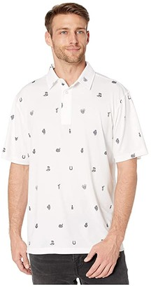Straight Down Outlaw Polo (White) Men's Clothing