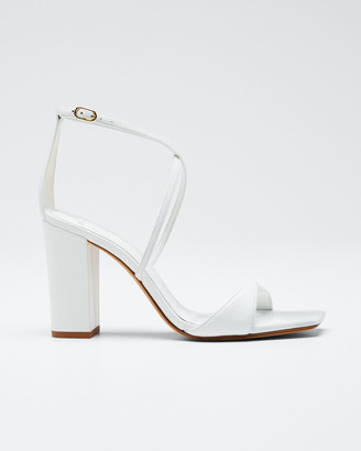 Alexandre Birman Miki Ankle-Strap Napa Slide Sandals