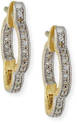 Jude Frances Lisse Small Clover Hoop Earrings with Diamonds