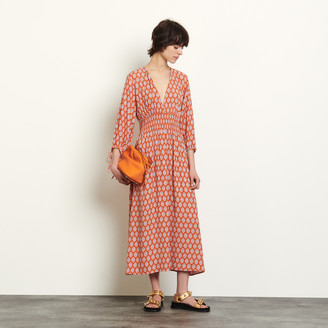 Sandro Long dress in printed jacquard