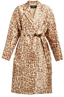 Rochas Okawa Leopard-print Taffeta Coat - Womens - Leopard