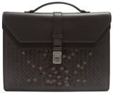 Bottega Veneta Embroidered Intrecciato-leather Briefcase