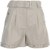 Twin-Set Twinset TwinSet Leather Shorts