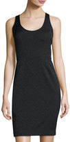 Trina Turk Jacquard Sleeveless Cocktail Dress, Black