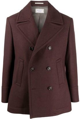 Brunello Cucinelli Double Breasted Pea Coat