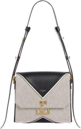 Givenchy Medium Canvas & Leather Shoulder Bag