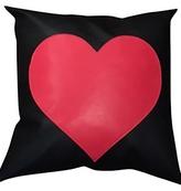 Ah!dorned Black Red Heart Pillow