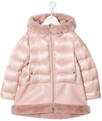 Herno Faux-Fur Trimmed Quilted Coat
