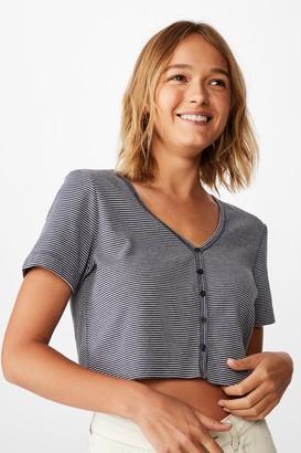 Cotton On Jessie Button Through Henley Short Sleeve Top