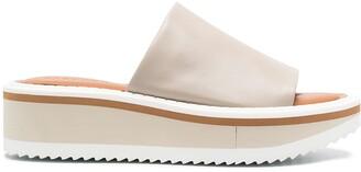 Clergerie Fast5 leather platform sandals