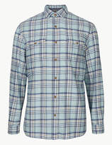M&S CollectionMarks and Spencer Pure Cotton Checked Shirt