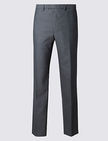 M&S Collection Big & Tall Grey Tailored Fit Trousers