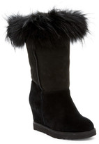 Australia Luxe Collective Foxy Tall Hidden Wedge Genuine Fox Fur and Shearling Boot