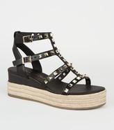 New Look Stud Gladiator Espadrille Flatform Sandals