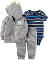 Carter's 3-Pc. Hoodie, Jogger Pants and Bodysuit Cotton Set, Baby Boys