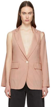 MM6 MAISON MARGIELA Pink Convertible Open Sleeve Blazer