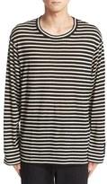 Yohji Yamamoto Men's Stripe Wool T-Shirt