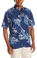 Cubavera Men's Short Sleeve Allover Tropical Printed Woven Shirt