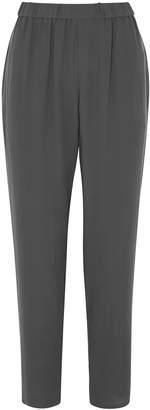 Eileen Fisher Dark Grey Tapered-leg Trousers